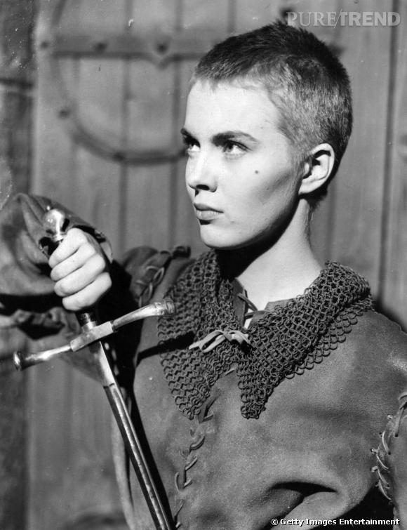 Jean Seberg, l'icône de la coupe garçonne. La première à avoir oser couper sa chevelure pour incarner Jeanne D'arc à l'écran.