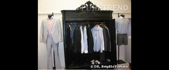 Showroom Marchand Drapier, dressing de chemises