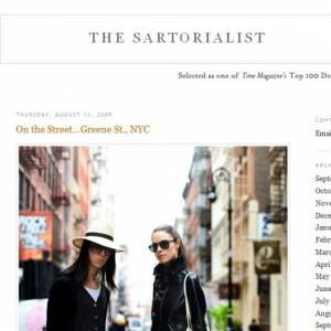 Le site The Sartorialist.com