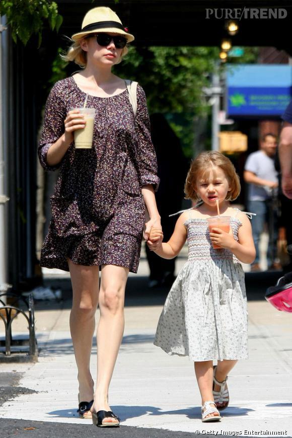 La fille de Michelle Williams, et de feu Hearth Leadger, est une adepte des petites robes liberty.