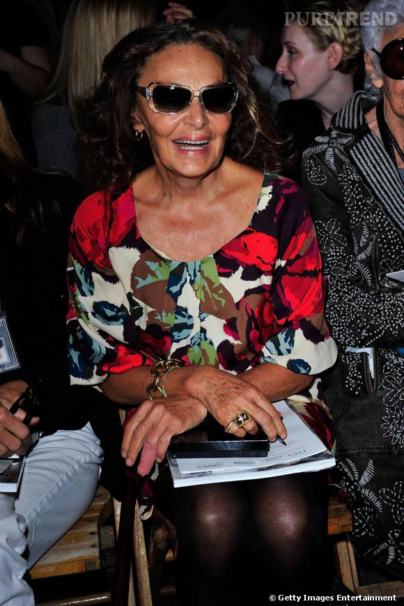 La créatrice Diane Von Furstenberg au défilé Rodarte