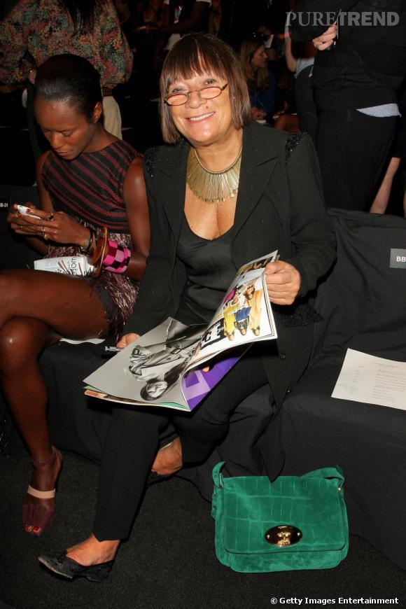 Hilary Alexander, fashion director du Daily Telegraph, au défilé Narcisco Rodriguez