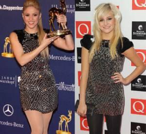 Shakira Vs Pixie Lott : qui porte le mieux la robe à clous ?
