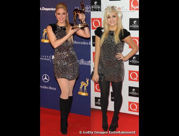 Qui selon vous, entre Shakira et Pixie Lott porte le mieux la robe à clous ?