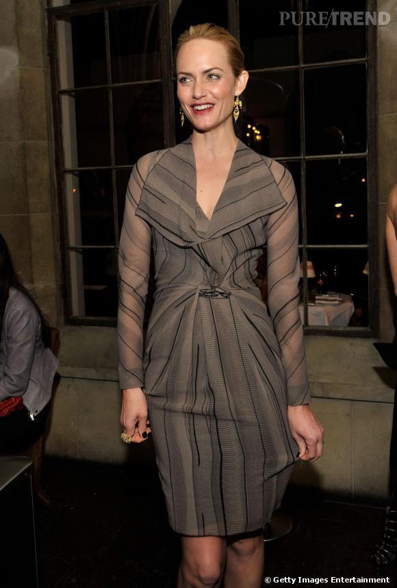 Amber Valletta lors de la soirée Rainbow by Roland Mouret pour Net à Porter.