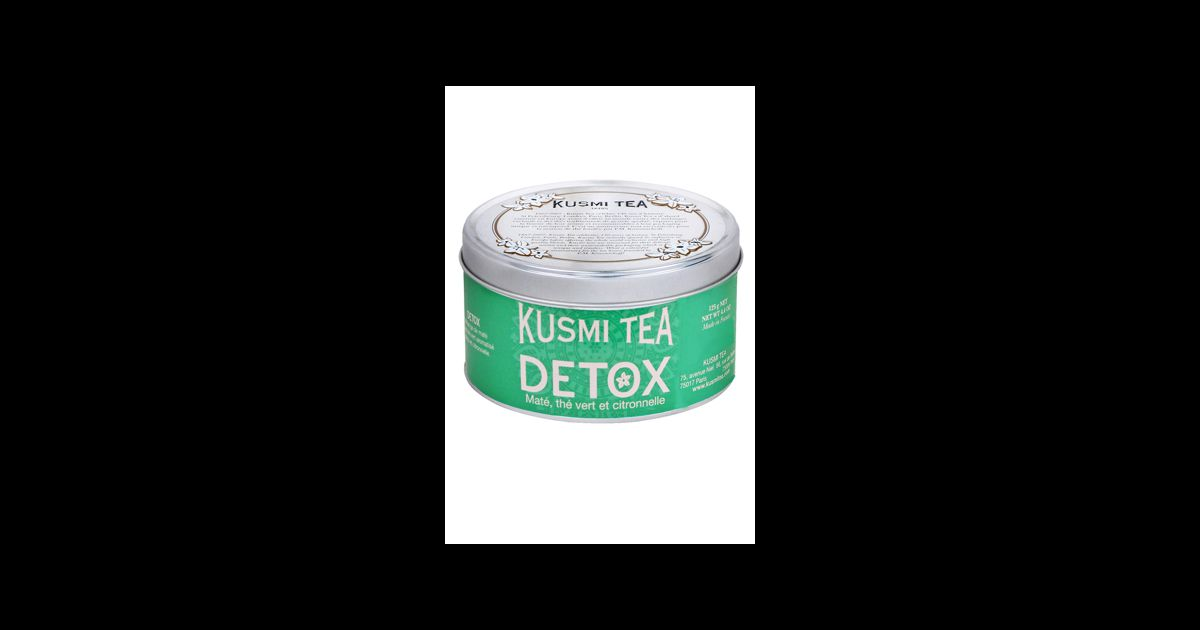 un th d tox qui fait envie dans sa belle boite vert amande le d tox de kusmi tea. Black Bedroom Furniture Sets. Home Design Ideas