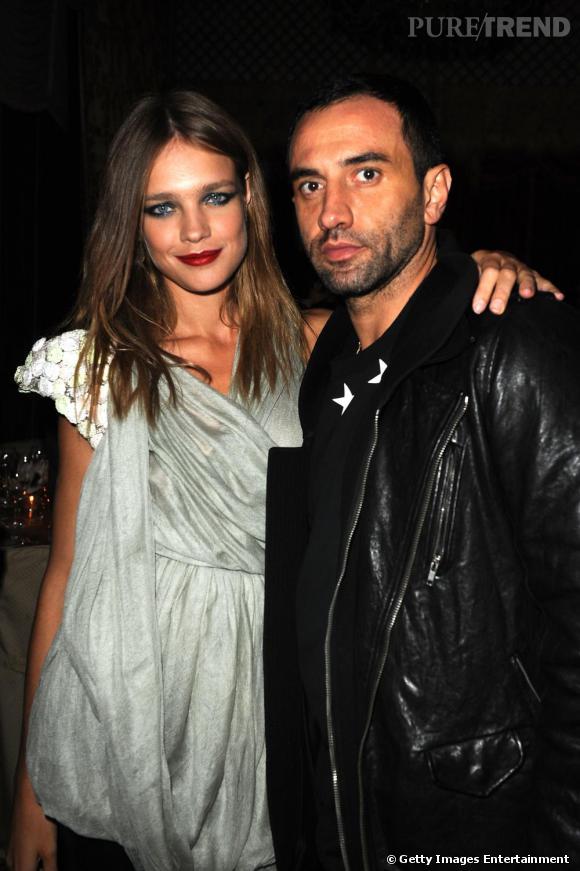 Natalia Vodianova et Riccardo Tisci au défilé Givenchy à Paris