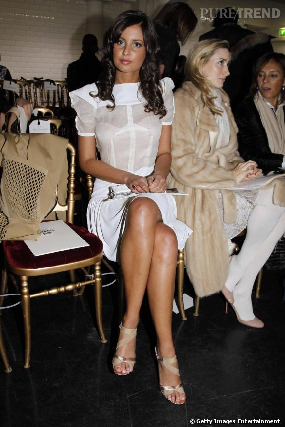 Miss France 2010 Malika Ménard au défilé Jean-Paul Gaultier