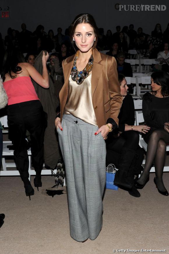 Olivia Palermo au premier rang du défilé Marc by Marc Jacobs