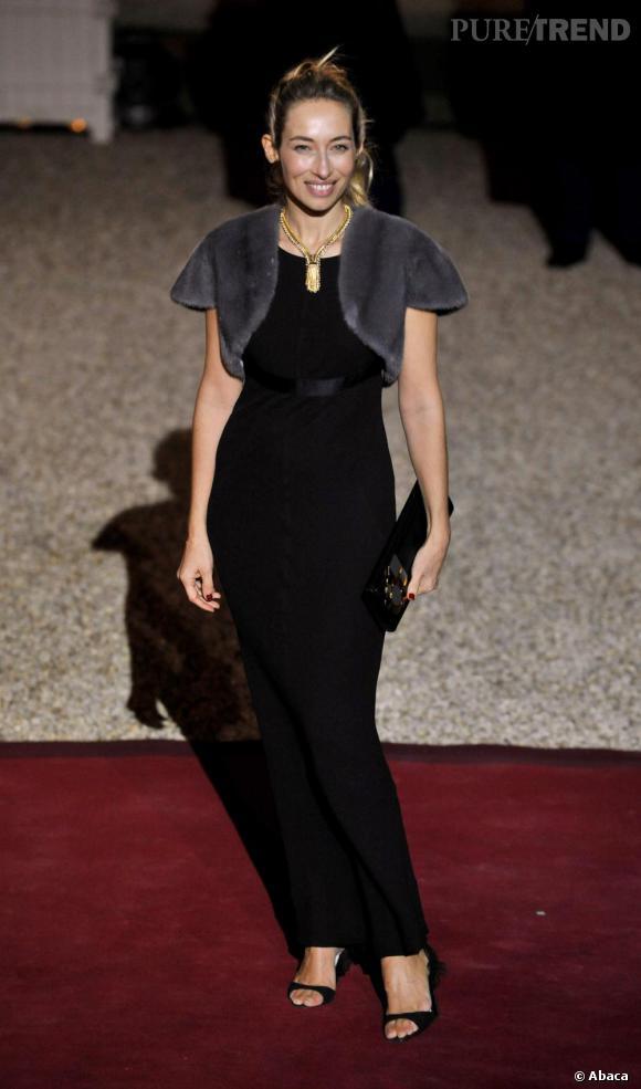 Alexandra Golovanoff, très chic sur le tapis rouge de l'Elysée.