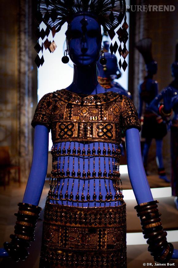"""Robe """"des tropiques"""" de la collection africaine Printemps-Eté 1967."""