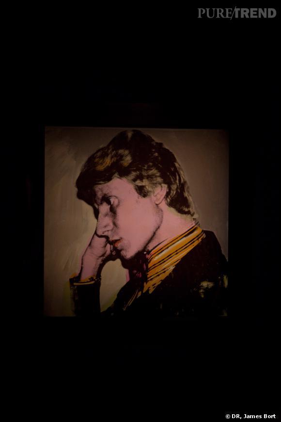 Portrait d'Yves Saint Laurent réalisé par Andy Warhol en 1972.