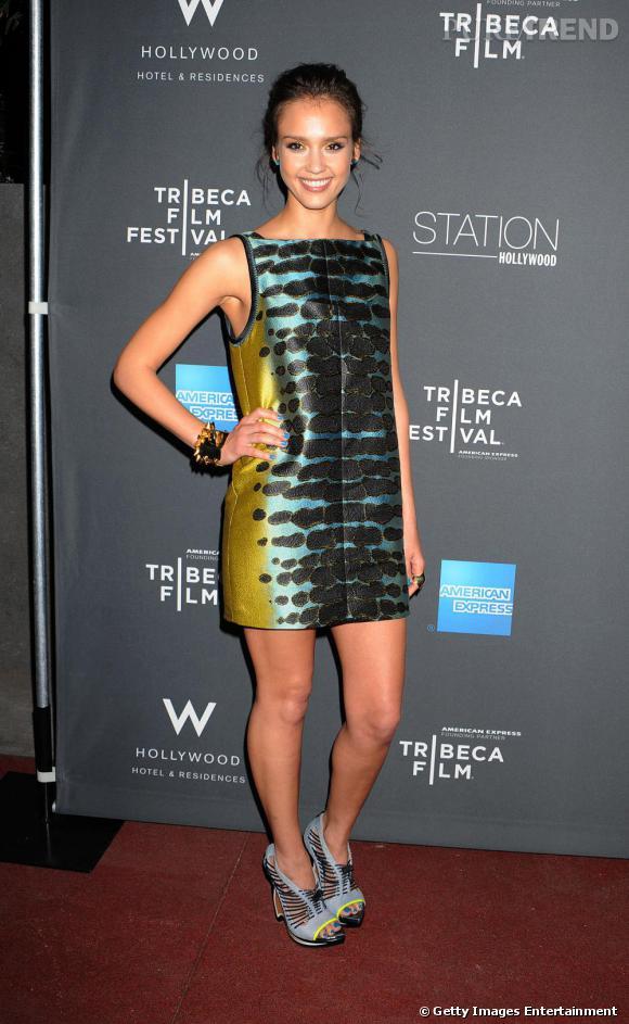 Jessica à la soirée hollywoodienne pour la présentation du Tribeca Film Festival de 2010