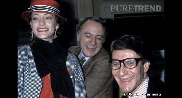 Loulou de la Falaise, Pierre bergé et Yves Saint Laurent en 1986