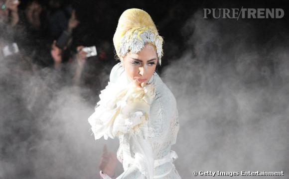 Lady Gaga lors du concert promotionnel pour la ligne Viva Glam de MAC