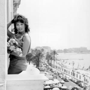 Sophia Loren, un dégradé trés seventies sur la Croisette.