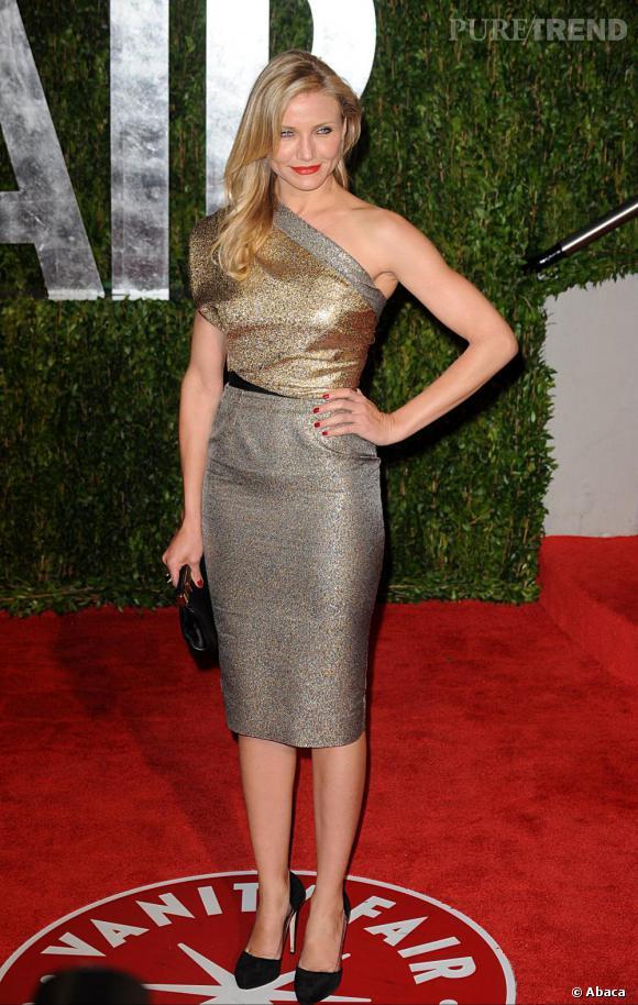 Cameron Diaz a fait sensation dans cette robe Victoria Beckham lors de l'after party de la cérémonie des Oscars.