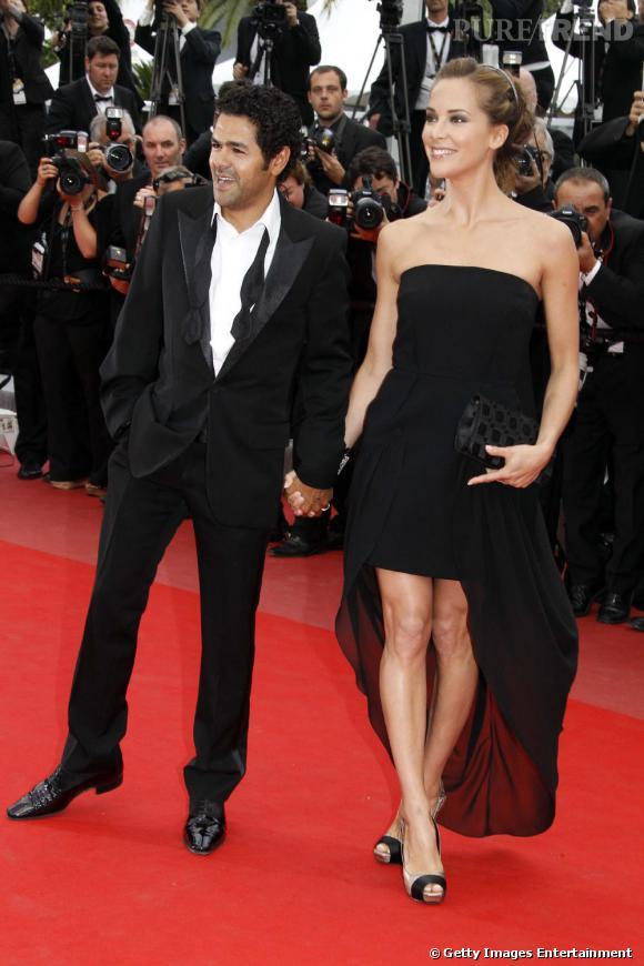 Mélissa Theuriau au côté de son mari Jamel Debbouze à la projection de Hors la loi