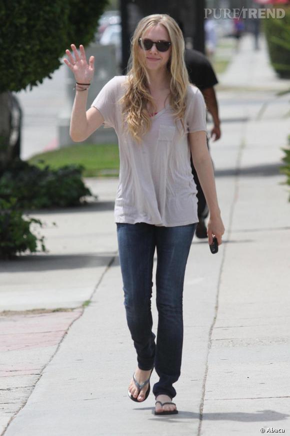 Amanda Seyfried, un look simple dans les rues d'Hollywood.