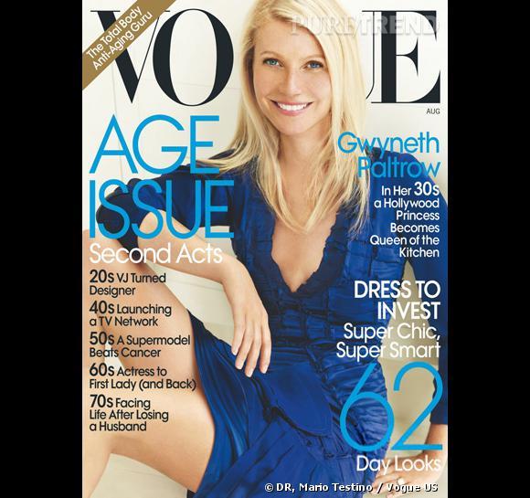 Gwyneth Paltrow à la une du Vogue US pour le mois d'août.