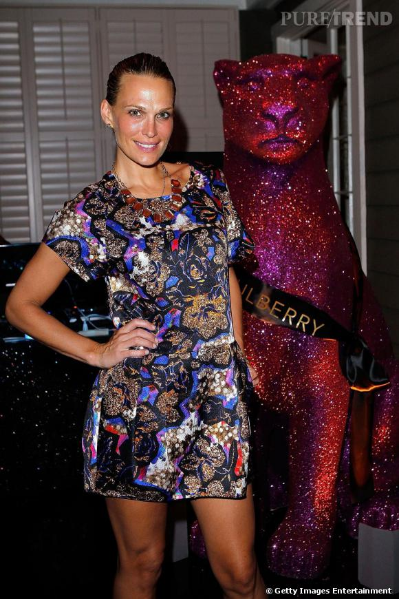 Molly Sims en robe Mulberry Automne/hiver 2010.