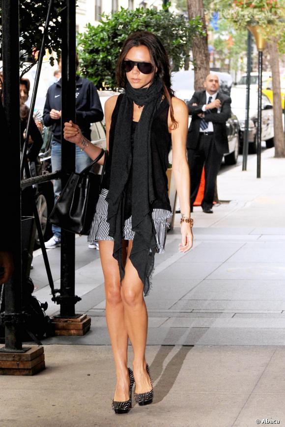 Victoria Beckham joue les contrastes à New York.