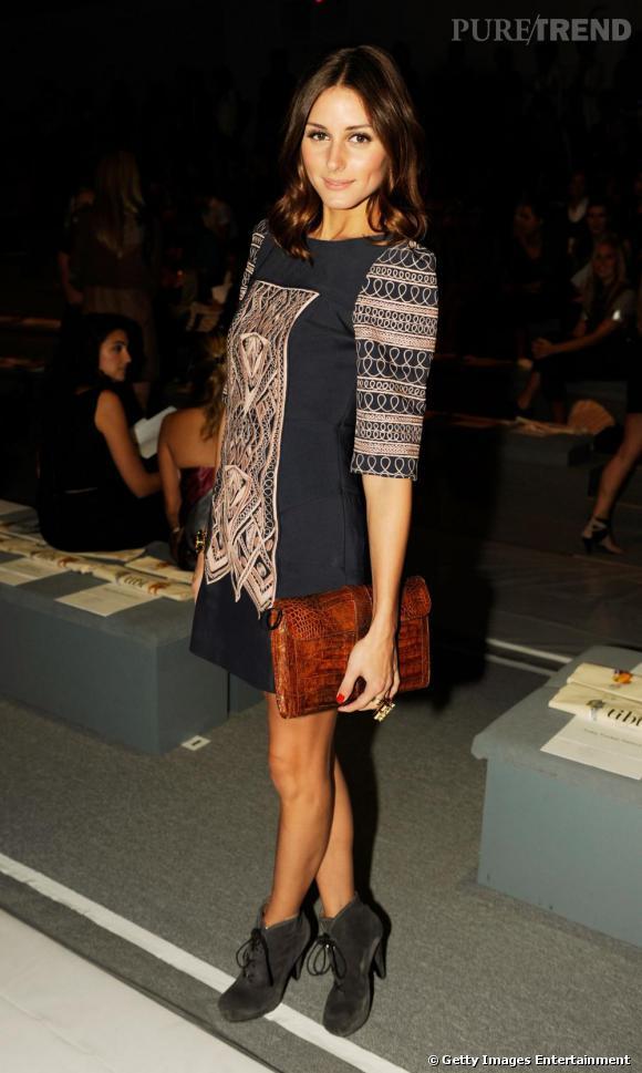 Olivia Palermo en robe Tibi, un parfait look de rentrée.
