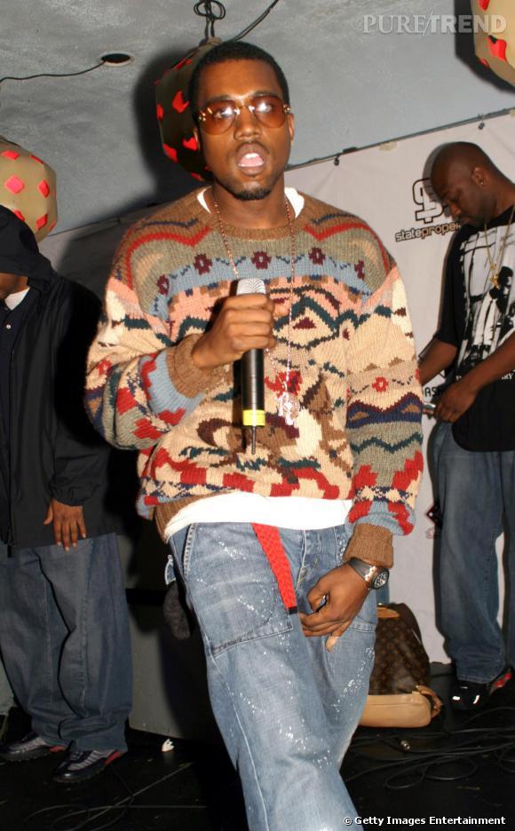 Toujours en 2004, Kanye se découvre une passion pour les pulls en tricot jacquard, un penchant 80's ?