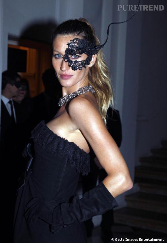 Gisèle Bundchen aux 90 ans de Vogue à l'hôtel Pozzo di Borgo à Paris.