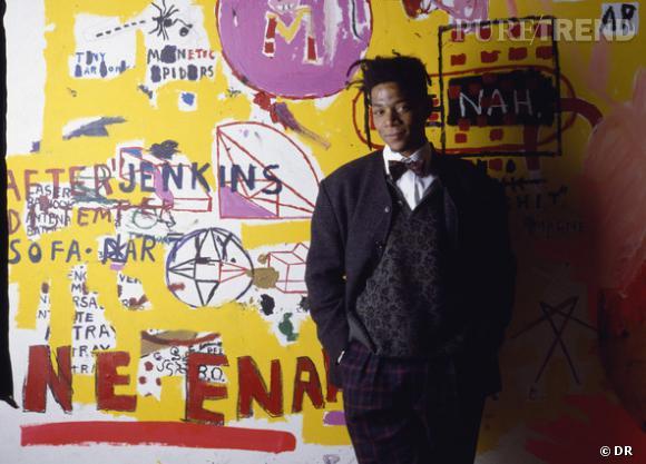 Jean-Michel Basquiat et la mode Un manteau trop grand pour lui, un noeud pap', une coiffure de golden boy toute en locks... Basquiat, c'est un  peu le dandy du guetto.