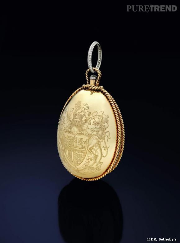 Nécesaire du soir, or et diamants. Cartier, 1947.