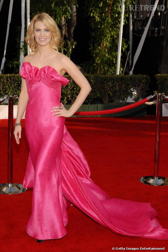 La Robe De Soiree La Plus Sexy January Jones Ose Le Rose Bonbon