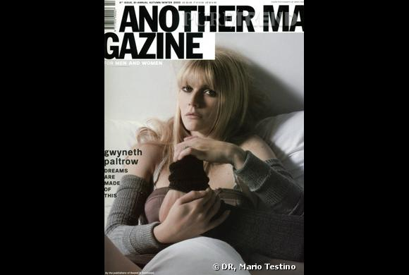 Gwyneth Paltrow au saut du lit pour le numéro Fall/Winter 2003-2004.