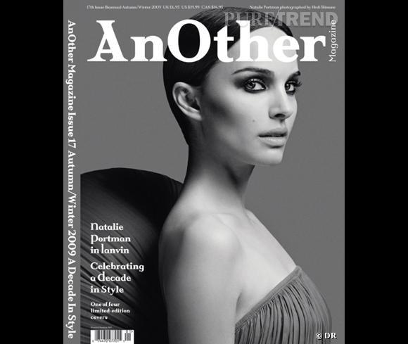 Natalie Portman pour le Fall-Winter 2009 habillée en Lanvin.  (ndlr : il y a quatre couvertures différentes pour ce numéro)