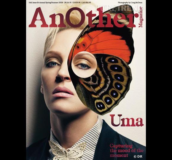 Uma Thurman papillonne pour le Spring Summer 2008