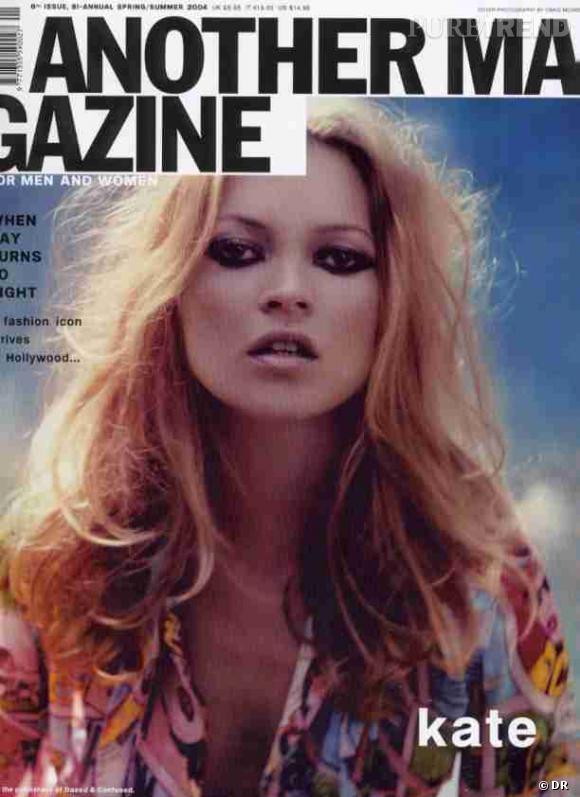 Kate Moss, divine hippie pour un des premiers numéros.