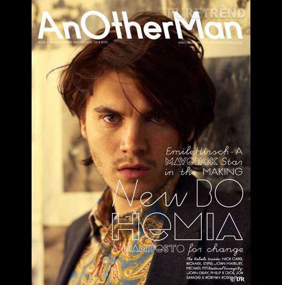 Another Man Spring-Summer 2008 : pour passer un été caliente, Emile Hirsch se donne des airs d'homme sauvage. La plus belle couverture (en tout objectivité evidemment...)