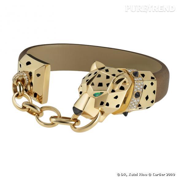 Bien connu Bracelet Panthère, Cartier Bracelet en or jaune, brillants, picots  NH25