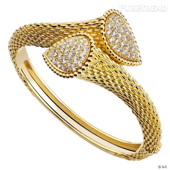 Bien connu Bracelet Serpent, Boucheron Bracelet en or jaune sculpté façon  NH25