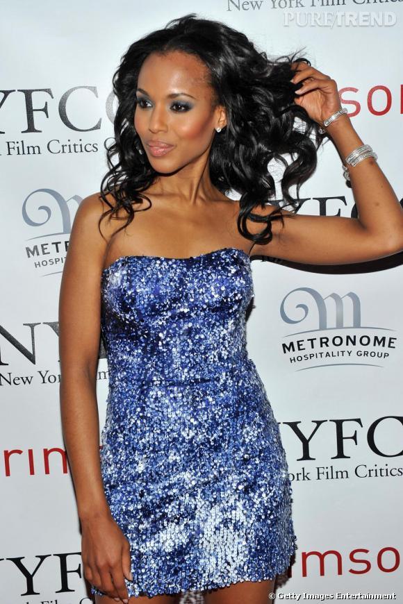 Egérie L'Oréal, Kerry Washington n'a rien à apprendre en matière de jeté de cheveux. Si ce n'est la discrétion ?