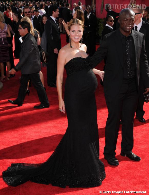 Heidi Klum enceinte sur red carpet se donne des airs de sirène.