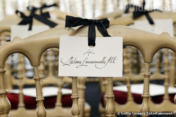 Place d'Emmanuelle Alt, nouvelle rédactrice en chef de Vogue Paris, au défilé Jean-Paul Gaultier.