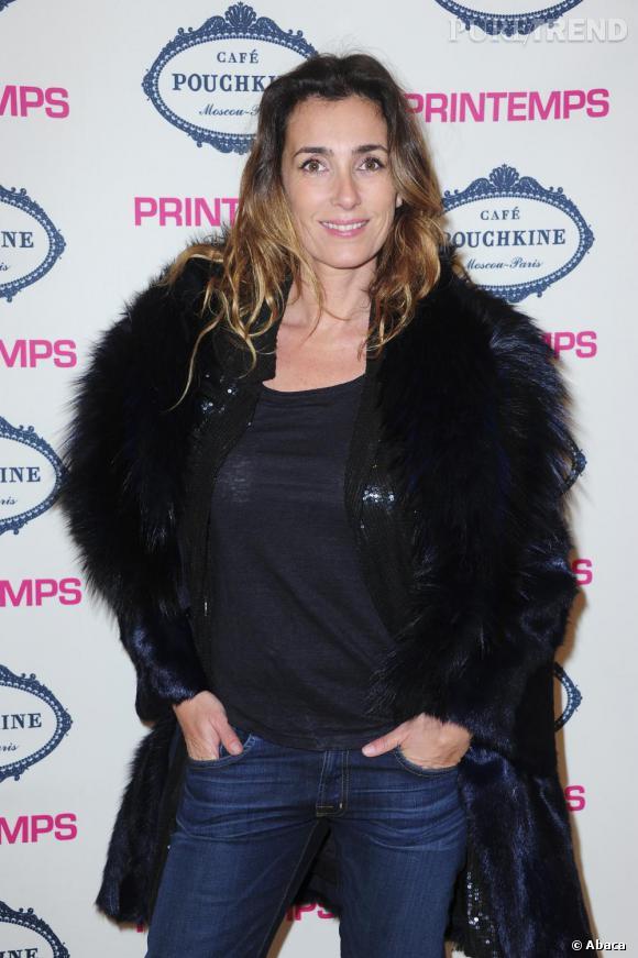 Mademoiselle Agnès à l'ouverture du restaurant éphémère Café Pouchkine, au Printemps de la mode à Paris.