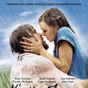 """""""The Notebook"""" reprend la vieille recette du baiser passionné sous la pluie entre Ryan Gosling et Rachel McAdams et rafle ainsi le MTV's Best Movie Kiss en 2008."""