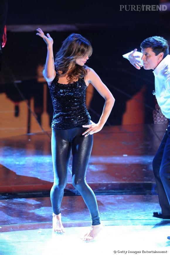 Elisabetta Canalis au Festival de la chanson de Sanremo.