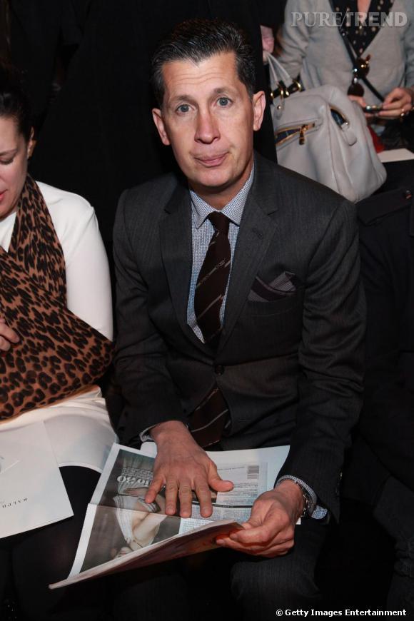 Stefano Tonchi de  W  chez Ralph Lauren Collection.
