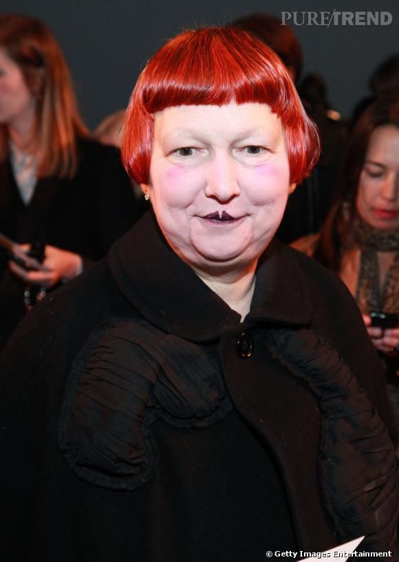 La journaliste Lynn Yaeger chez Ralph Lauren Collection.