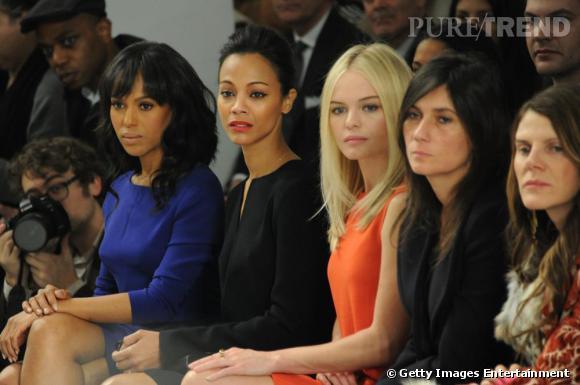 Jolie brochette chez Calvin Klein avec Kerry Washington, Zoe Saldana, Kate Bosworth, Emmanuelle Alt et Anna Dello Russo.