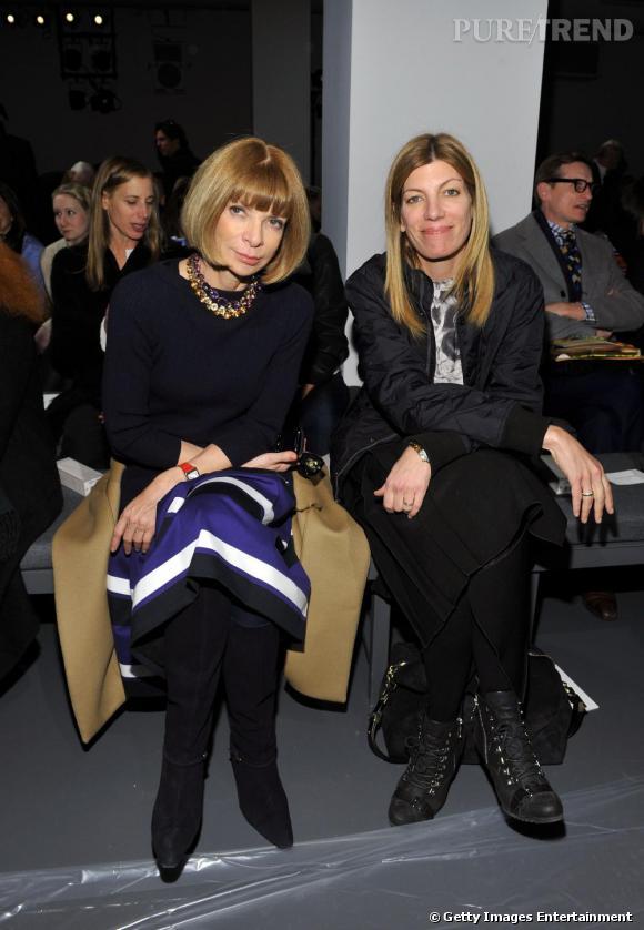 Anna Wintour et Virginia Smith de  Vogue  chez Calvin Klein.