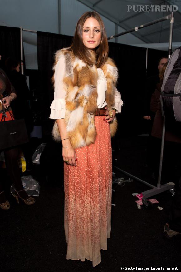 Le style folk, version chic, pour Olivia Palermo en Tibi.